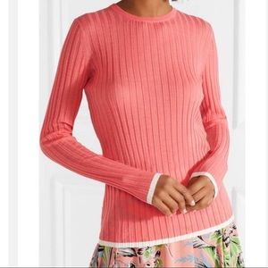DVF coral top